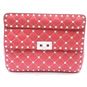 Valentino Garavani Pink White Free Rockstud Bag